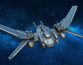 battle Combat spacecraft 3D printable model