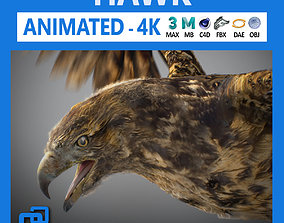 claw 3D model Animated Hawk