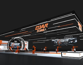 rigged QJAR Robotics show exhibition stand 880sqm