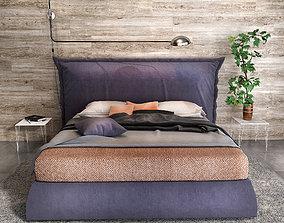 Felis Parker bed 3D model fabric