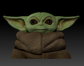 3D printable model baby yoda bust