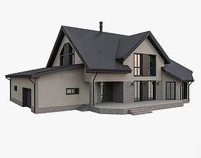 3D European Cottage