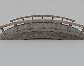 3D asset low-poly Wooden Bridge PBR