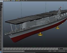 3D model Batle ship Akagi To Japan