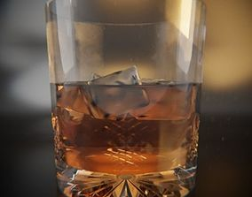 Whisky Cut Glass 3D model liquor