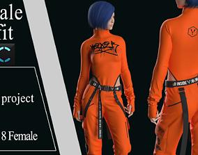 3D model Modern Female Outfit2 Marvelous Designer