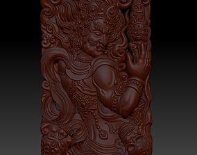 Tibetan Buddha statue 3d model of relief various