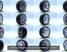 ORTAS CAR RIM 29-30-31-32-33-34-35 GAME READY 3D model