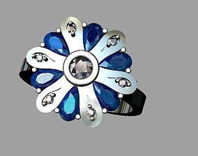3D print model Pear cut diamond ring