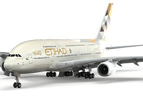 Airbus A380 Etihad - element 3D