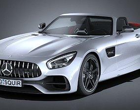 3D model Mercedes AMG GT Roadster 2017