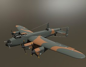 Avro Lancaster B Mk3 Aircraft 3D model