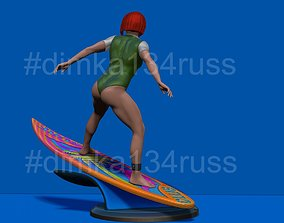 3D printable model surfing