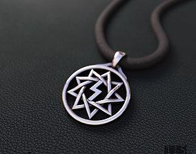 3D print model silver pendant star Inglii