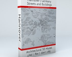 3D model Hannover Streets and Buildings