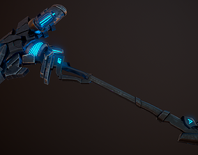 3D model Sci-Fi Battle Axe 2