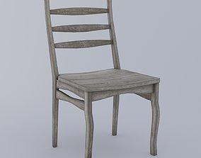 Wooden chair - aged wood 3D asset