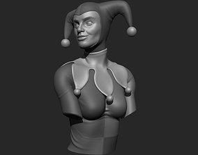 Harley Quinn Bust 3D print ready