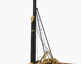Triaxial Mixing Pile Driver 3D model