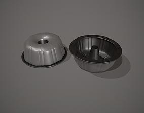 3D asset Grey Funnel - Bundt Cake Tin