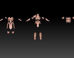 3D Wonder woman armor art
