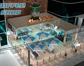Coffee Shop 3D asset low-poly