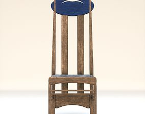 Arts and Crafts Argyle Chair Charles Rennie Mackintosh 3D