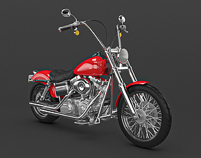 Motorcycle classic 3D chopper
