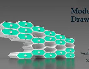 hexagonal Modular Drawers 3d print