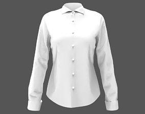 3D model women shirt long sleves