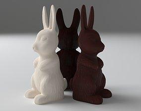 Chocolate bunny 3D model