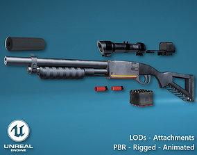 3D model Futuristic Shotgun