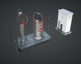 Electric Car Charging Station 3D model