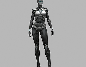 Female Robot 01 3D model