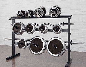 3D Gym equipment 17 am169