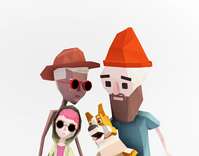Simple Family Pack 3D asset animated
