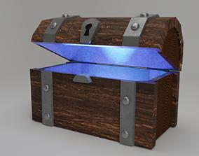 wood Treasure chest 3D asset