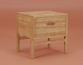 Asta Bedside Table 45x43x48 3D model