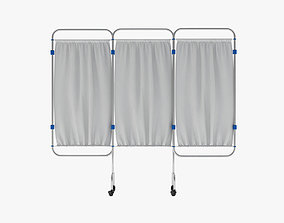 Hospital Privacy Screen Expanded 3D model