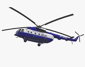 Mi-8AMT Russian Police 3D asset