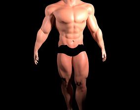 Muscular Man Heroic Model rigged
