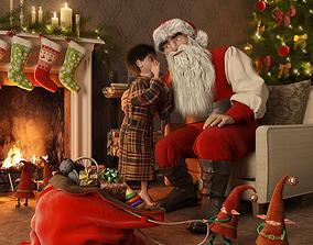 3D Christmas Scene