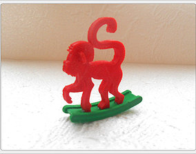 Monkey 3D print model ape