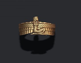 jewelry 3D printable model Isis ring