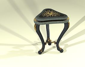 3D model Tea table with golden ornaments