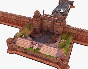 3D model Red Fort Delhi India