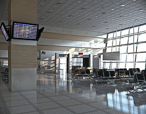 3D area Airport Departures Lounge