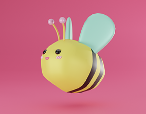 Bee Cartoon 3D model VR / AR ready