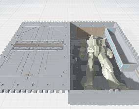 -MHG01C- Mecha Hangar Garage 01 3D print model 2