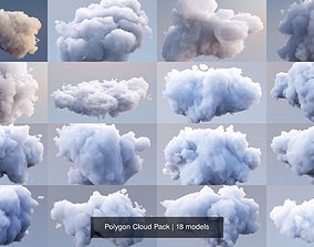 3D model Polygon Cloud Pack